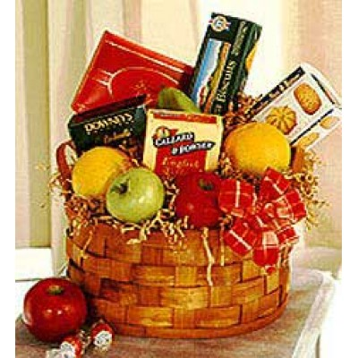Basket of Fruit and Sweets