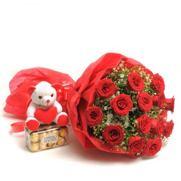 Send Love Combo Burst Lr Hab Flower Gifts To Dubai With Flowers