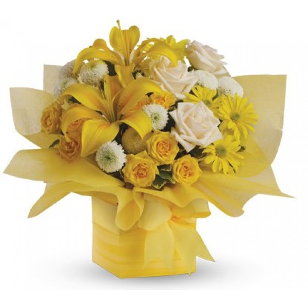 Send Yellow Delight Gw Flower Gifts To Dubai With Flowers Dubai